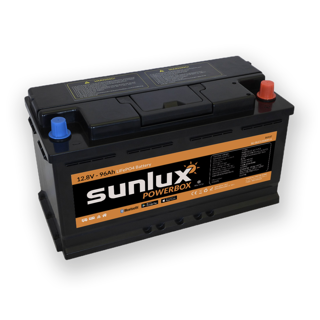 LiFePO4 batteri 12.8V/96Ah