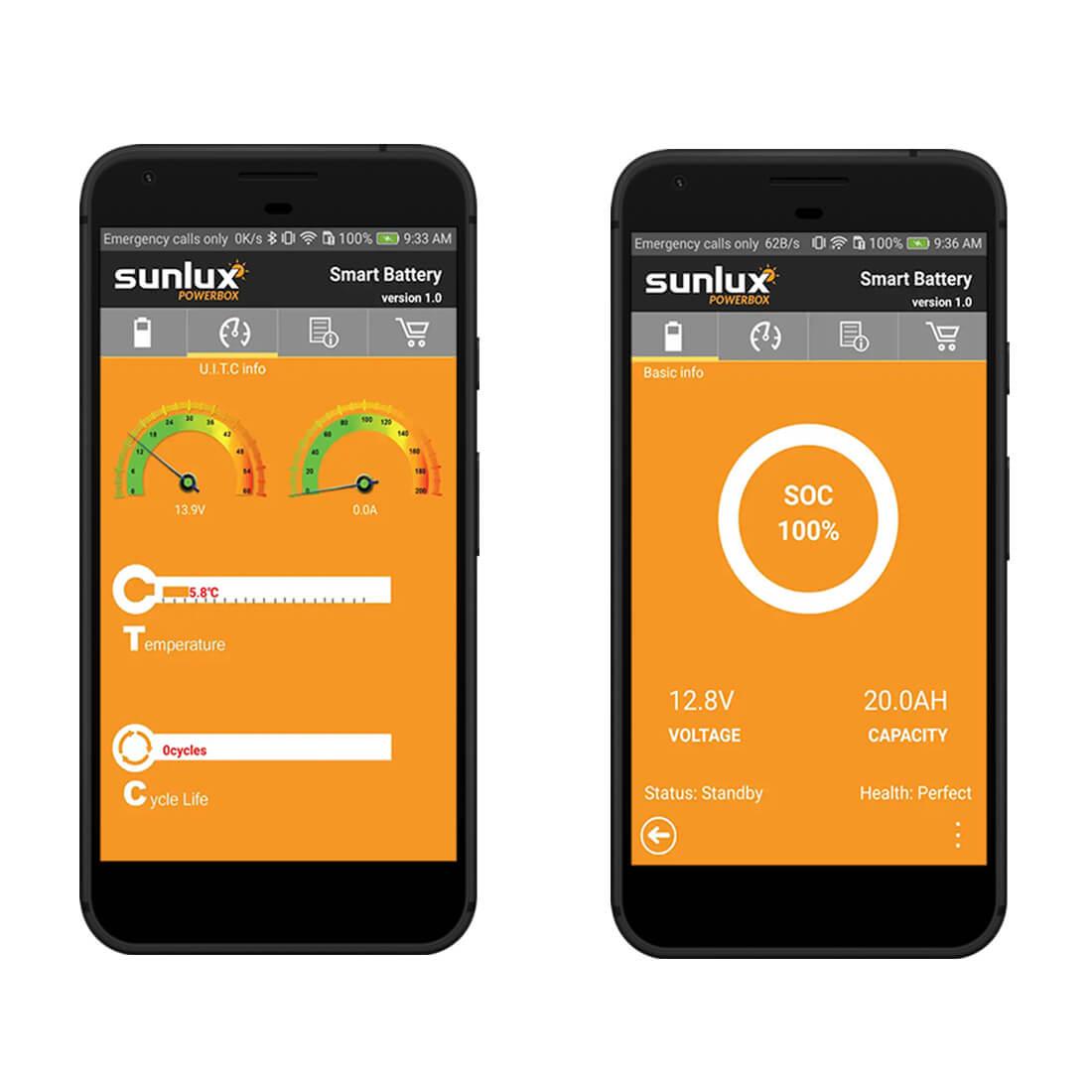 LiFePO4 smart BMS -app